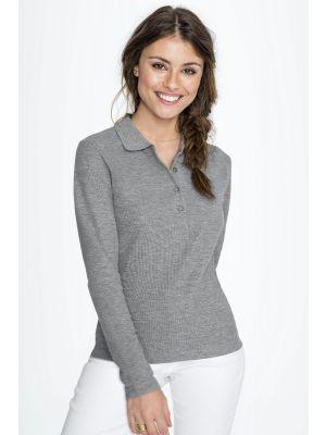 Рубашка поло женская с длинным рукавом SOL'S PODIUM